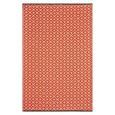 Invoke the power of the ikat with the vivid colours and Aztec wonder of the Kimberley Diamond Plastic Outdoor Rug from FAB Rugs, the perfect eco-friendly addition to your home.