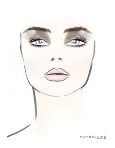 The @Maybelline New York face chart from the Richard Chai show. #NYFW #mbfw