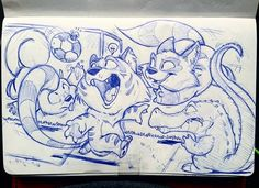 Yesterday i got to go see the usa vs argentina game with some co workers ^_^ lol it was a slaughter... me being a non soccer fan for the most part i spent it doodling a little bit and finished this guy up in todays coffee break ^_^ have a great wednesday everyone. You all kick booty. Like big fat booty! #rodgontheartist #doodles #sketches #drawings #sketch #art #sketching #cartoon #design #drawing #artwork #sketchbook #illustrator #illustration #panda #bear #weirdanimal #characterdesign…
