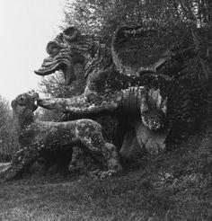 Parco dei Mostri, stone sculpture, Dragon  Ligorio, Pirro  Born 1490  Died 1583  Nationality Italian
