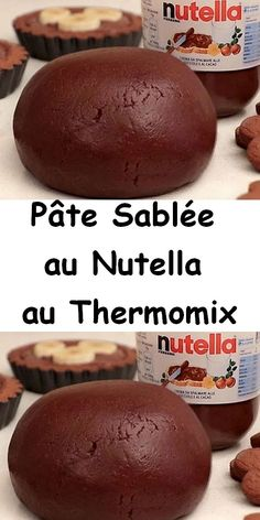 For Nutella lovers, here is the recipe for Thermomix nutella shortbread dough, a good shortbread pastry, melting and delicious, easy to make with thermomix and you can make pie stock or shortbread cookies. Tart Recipes, Cooking Recipes, Nutella Biscuits, Double Chocolate Brownies, Thermomix Desserts, Number Cakes, Sweet Pastries, Shortbread Cookies, Pasta