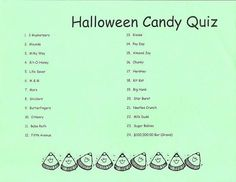 halloween candy quiz night games for kids pinterest ideas - Halloween Quiz For Kids