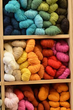 Dream in life? All colors of the rainbow yarn cupboard!! So lovely!