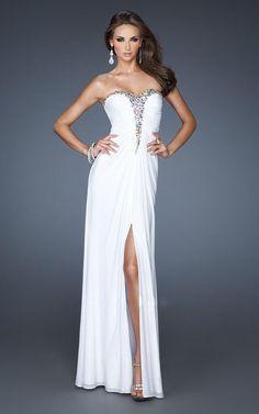 Homecoming Dresses | Womens best la femme long white prom dresses 2013 - Wellsphere