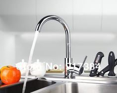 Construction Real Estate New Concept Kitchen Sink Basin Chrome Brass Single Handle Deck Mounted M-020 Mixer Tap Faucet
