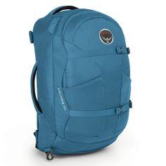 Osprey Farpoint 40 bei Koffermarkt: ✓Tasche und #Rucksack in einem ✓als #Handgepäck geeignet ✓nur 1,44 kg ✓Farbe: Caribbean Blue