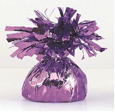 Decorative Metallic Purple Balloon Weight - Online Balloon Shopping in India