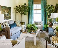 The key to energizing a quiet room is right outside your window: It's all about layering textures, colors, and patterns that are rooted in nature. Decorator and author Lauren Liess shares how to follow Mother Nature's lead.