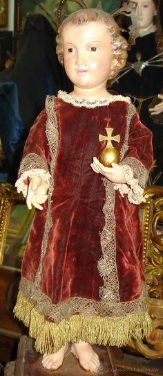 TALLA DEL NIÑO JESÚS EN CAP Y POTA, O IMAGEN DE VESTIR