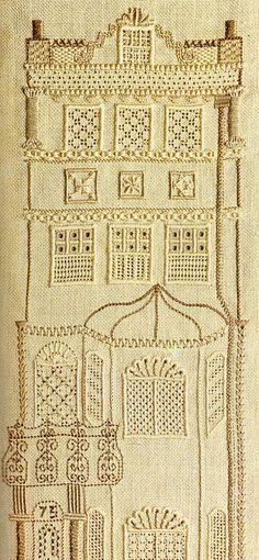 no73 drawn fabric work by elizabeth cake