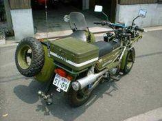 Eine Honda Motra als Gespann, Japan. Bild 2