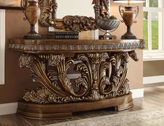 Traditional Console Tables, Victorian Design, Formal Living Rooms, Furniture Outlet, Antique Gold, Living Room Furniture, Entryway Tables, Solid Wood, Furniture Design