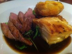 Gressingham duck with Dauphinoise potatoes - Ate O'Clock in York