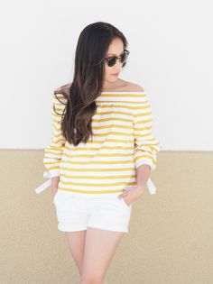 J. Crew 40% Off Sale | Stripes + Bell Sleeves | Kee Pieces. - A Fashion Blog