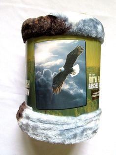 American Eagle Wildlife Royal Plush Raschel Throw Blanket 50 X 60   #Northwest #Traditional