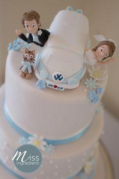 VW Camper van Wedding Cake Topper by Miss Ingredient