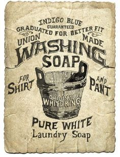 free printable vintage laundry labels - Google Search