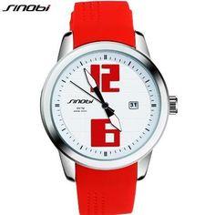 SINOBI Watch Women Watches Top Brand Auto Date Waterproof Silicone Watch Ladies Watch Lady Hour bayan kol saati relogio feminino