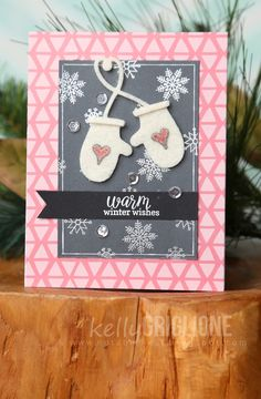 Hi Folks, I've got a few cards from Catherine Pooler's latest Holiday Wrap-Up  collection! This card features a pair of cozy winter...