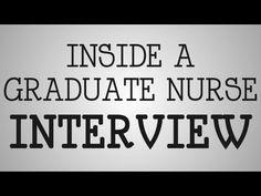 Graduate Nurses | Inside A Graduate Nurse Interview - YouTube
