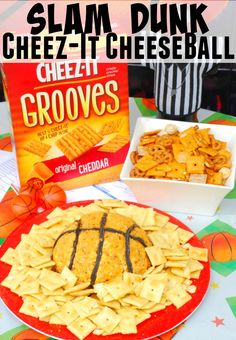 My Slam Dunk #MVCheezit Cheeseball is the perfect snack for your basketball party.  Check out @Target for great deals on all the ingredients.  #ad