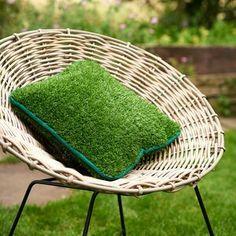 Artificial grass cushion from notonthehighstreet