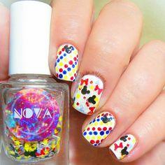 Dreamin' of Disney by NOVA polish mickey nail polish, disney nail... ($9.50) ❤ liked on Polyvore featuring beauty products, nail care, nail polish, disney, disney nail polish, glossy nail polish and shiny nail polish