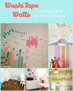 Washi Walls! by miss modified. Washi tape on walls, so great for apartments!