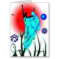 African Winter Dance Cards