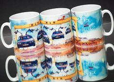 "My best-selling ""Back to Belfast"" mugs. Reordering again tomorrow!  #backtobelfast #deloreanbacktobelfast #delorean #flyingdelorean"