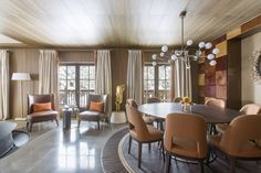 #dining area at Cheval Blanc Courchevel, France