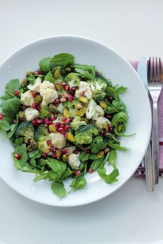 Cauliflower, Broccoli and Pomegranate ... sounds so refreshing and healthful!