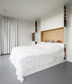 Built-in Storage, Villa V by Paul de Ruiter, Photo by Tim Van de Velde, Plywood | Remodelista