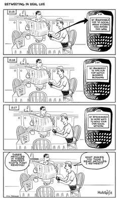 Retweeting versus reading???