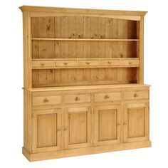 Beautiful Dorchester Pine Kitchen Dresser Free UK Delivery on all standard dresser orders. Solid Wood Dresser, Pine Dresser, Large Dresser, Welsh Dresser, Pine Kitchen, Kitchen Dinning, Pine Furniture, Dining Room Furniture, Dining Rooms