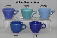 Fiesta Vintage Blues! Mauve, turkquoise, ironstone powder blue, vintage lapis, vintage cobalt