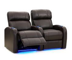 Genial Diesel XS950 Theater Chairs For Home Octane Seating Brown TopGrain Leather  Power Recline Accessory Dock Space Saver Memory Foam Straight Row Of 2 Seats  U003eu003eu003e ...