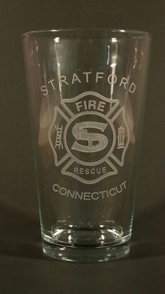 Fire department logo hand engraved on a pint glass Engraved Beer Mugs, Hand Logo, Fire Department, Hand Engraving, Pint Glass, Tableware, Fire Dept, Dinnerware, Beer Glassware
