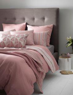 grey and pink bedroom interior design inspiration