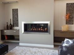 Modern fireplace. Gorgeous!