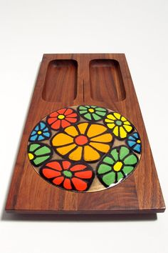 1960's Mod Flower Power Cheese Tray design by by modernspecific, $25.00