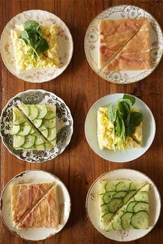Tea Sandwiches That Will Rival Any Grandmother's Recipe #refinery29  http://www.refinery29.com/honestly-yum/16#slide-11  And enjoy with piping hot tea!  ...