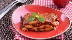 Parmesana de calabacines (Parmigiana di zucchine) - Matteo de Filippo - Receta - Canal Cocina Mozzarella, Chicken, Food, Gastronomia, Appetizers, Vegetables, Pizza, Italian Recipes, Essen