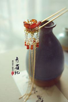 Chinese Hairpin Chinese Hairpin, Hair Jewels, Asian Hair, Head Accessories, Ancient Jewelry, Hair Sticks, Hair Ornaments, Hanfu, China Fashion