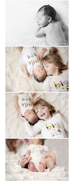 Newborn with sibling #newbornphotography