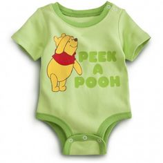 Onesie, Winnie the Pooh. Is it just me, or is this one far too cute? Defianetly going to buy one of these when my little darling comes to the world in January '14.