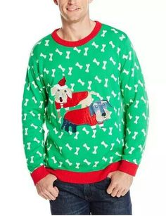 Mens Dachshund Christmas sweater