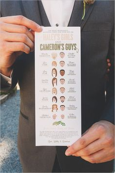 Wedding party graphic - Creative design.