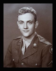 Kurt Vonnegut, pictured here as a Private in the U.S. Army, before going off to war