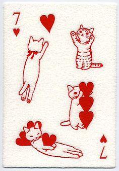 當貓咪打起撲克牌!超可愛日本療癒系明信片 » ㄇㄞˋ點子